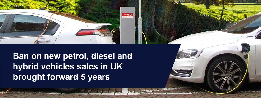 영국 정부, 휘발유, 디젤 및 하이브리드 자동차에 대한 금지령 5 년