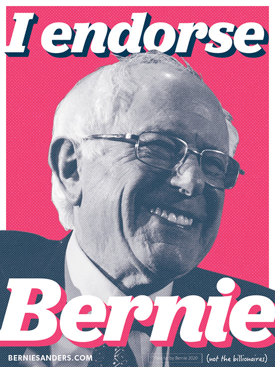 I endorse Bernie sticker