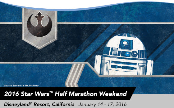 2016 Star Wars™ Half Marathon - Disneyland® Resort, California. January 14-17, 2016