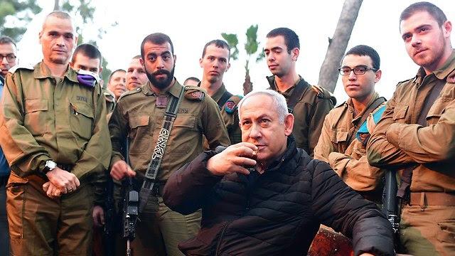 Нетаниягу и солдаты. Фото: GPO
