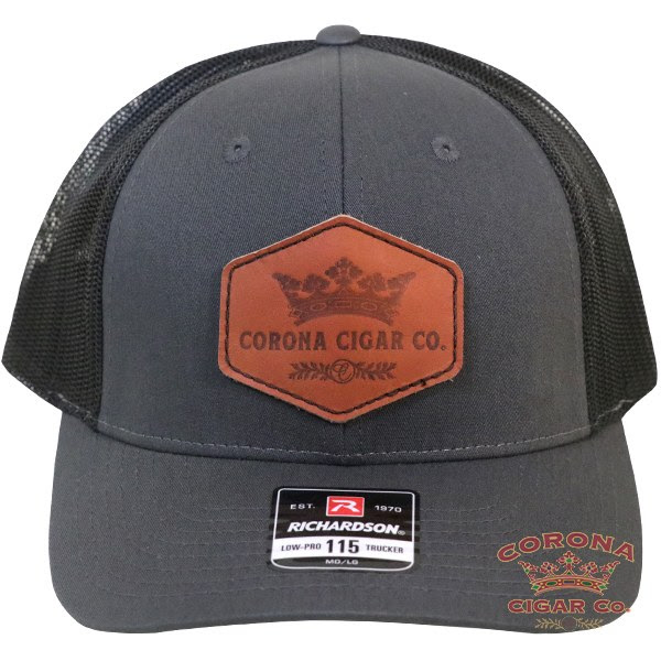 Image of Corona Cigar Co. Leather Patch Trucker Hat