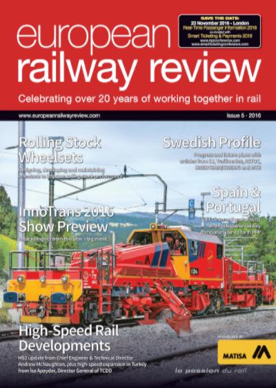 European Railway Review Magazine Cover