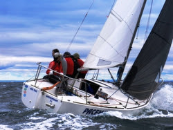 J/24 sailing Vic States in Australia