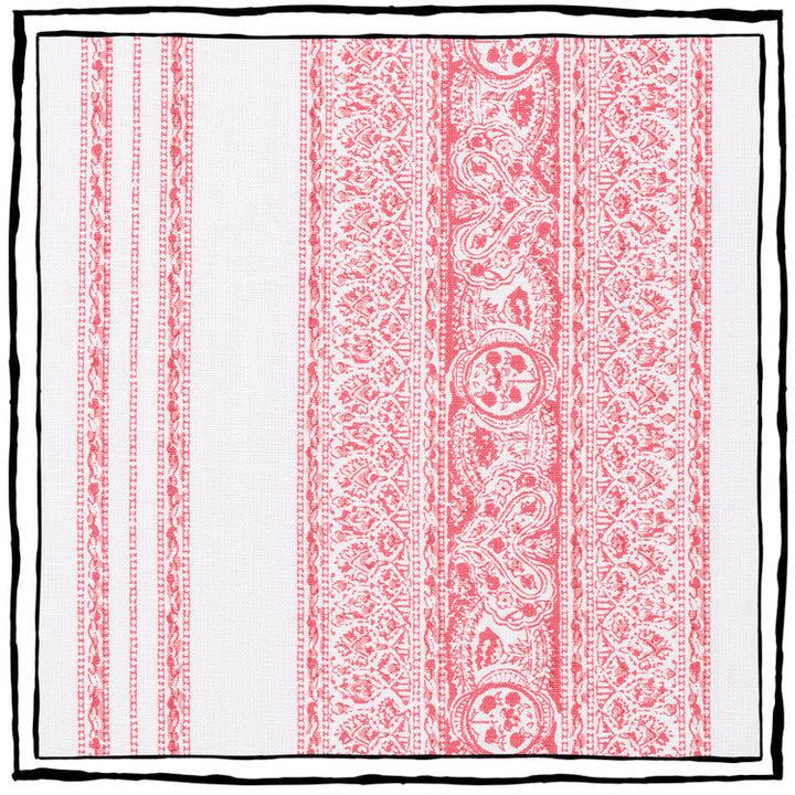 Image of Jaipur Stripe - Coral & Salmon (Memo)
