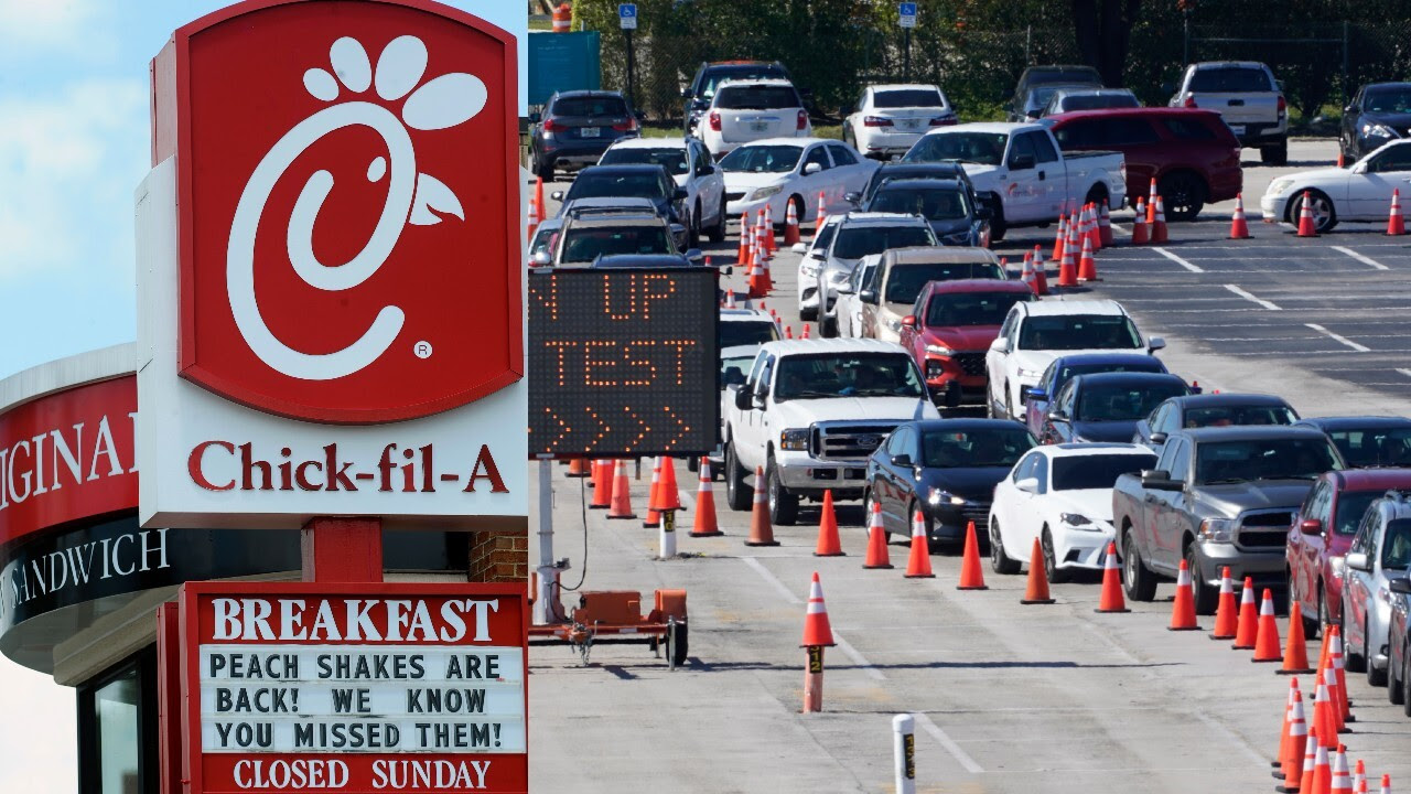 Chick-fil-a saves the day helping manage vaccine drive-thru line