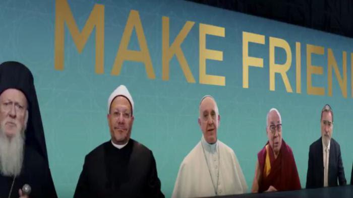 VIDEO. Le pape, le dalaï-lama et le grand mufti appellent à l'amitié entre toutes les religions