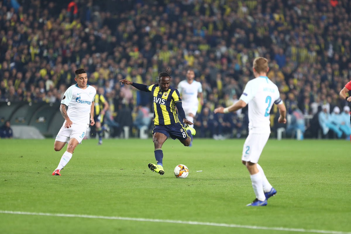 Victor Moses was rated among the best players for Fenerbahce in the Europa League [Fenerbahce]
