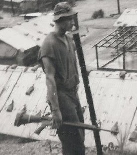 Gordon - a tall, but skinny target in Vietnam due to the starvation 10 day patrol rations