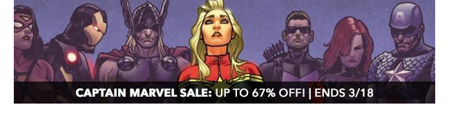 Captain Marvel Sale: up to 67% off! | Ends 3/18
