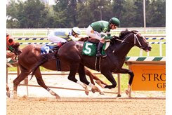 Night Code wins a hard-fought debut July 11 by a half-length at Laurel Park