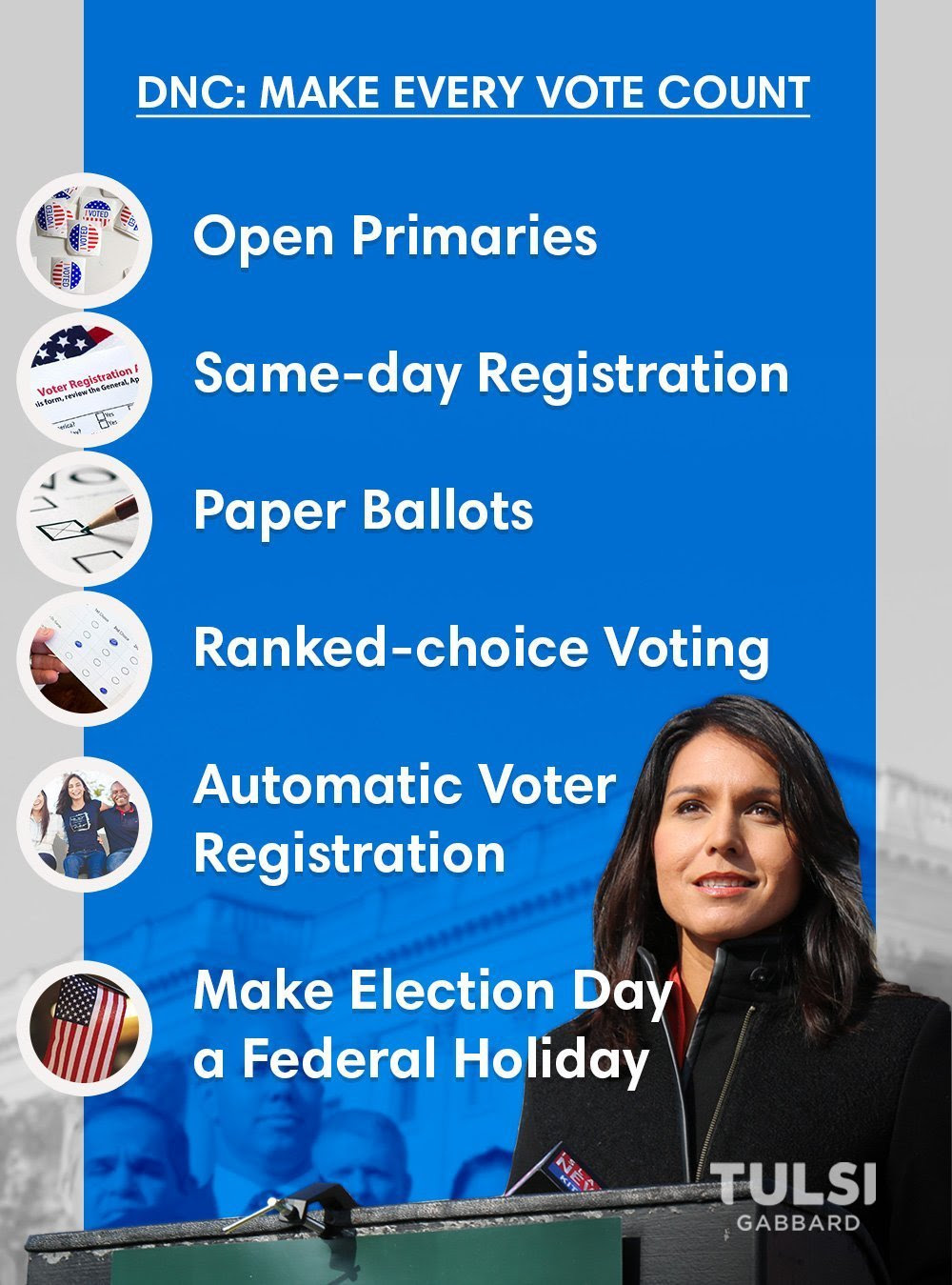 DNC: Make Every Vote Count Graphic