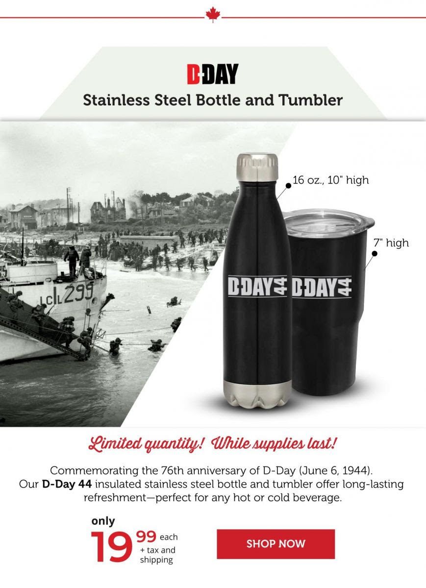 D-DAY Stainless Steel Bottles and Tumblers