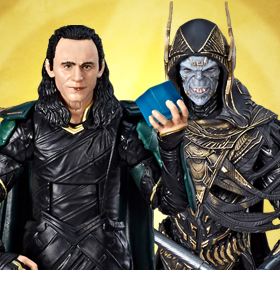 Avengers: Infinity War Marvel Legends Loki VS Corvus Glaive Exclusive Two-Pack