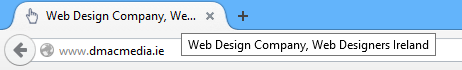 Page Title display in browser