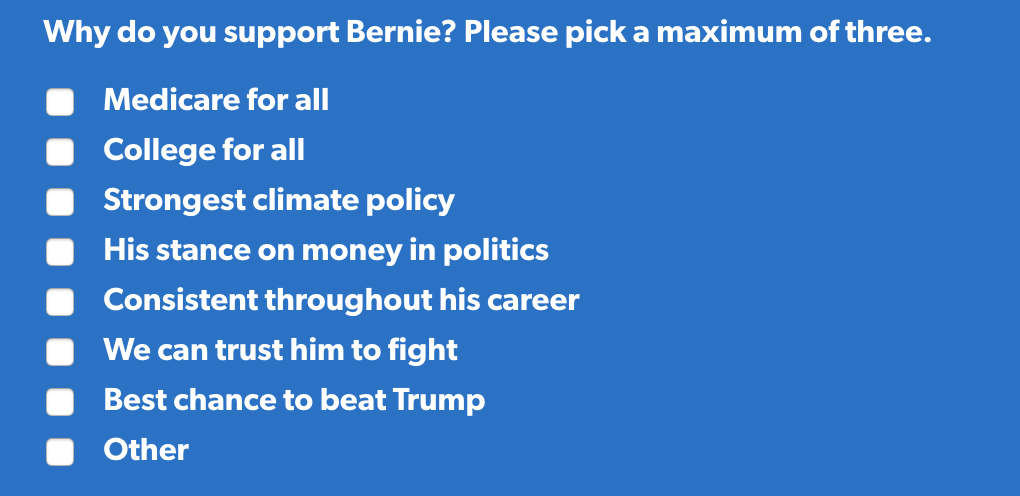 Why do you support Bernie?