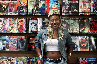Ariell R. Johnson at Amalgam Comics & Coffeehouse.