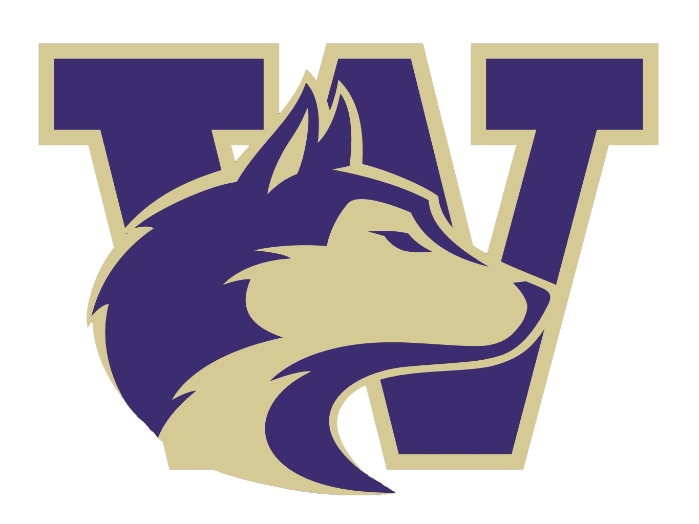 Image result for washington Huskies logo blank background