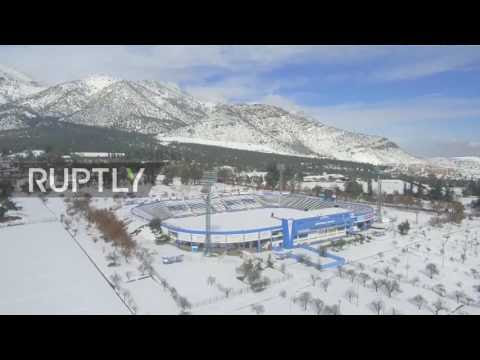 Chile: Drone captures white blanket of snow covering Santiago for the first time in 20 years  Hqdefault