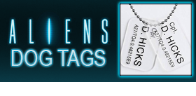 ALIENS COLONIAL MARINES DOG TAG REPLICAS