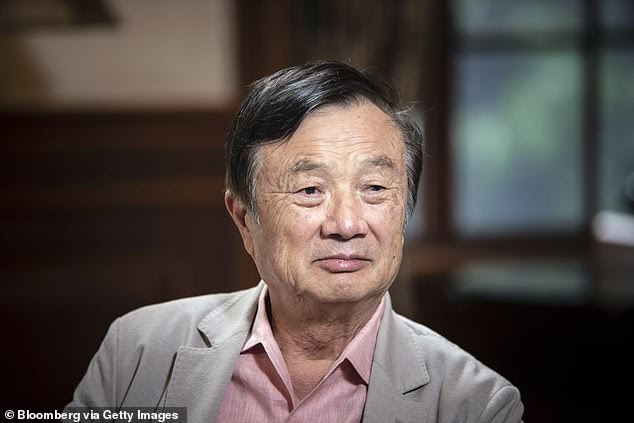Huawei's founder and CEO Ren Zhengfei (pictured) has reportedly revealed his plan of recruiting 200 to 300 'genius youngsters' next year to help his firm thrive in the next five years after the Trump administration put a series of restrictions on the telecom firm amid a trade war