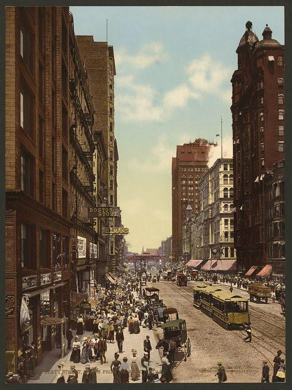 State Street, Chicago, 1900.