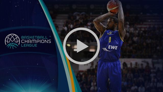 All 15 Three-Pointer of EWE Baskets v UNET Holon