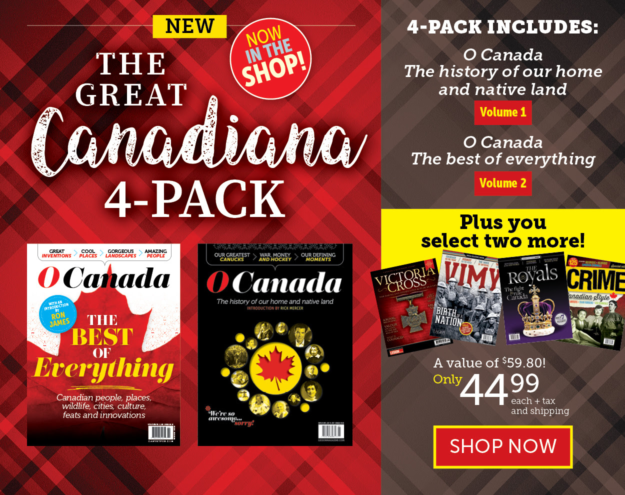 The Great Canadiana 4-Pack