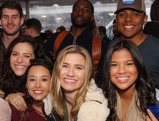Group photo of young adults at the Winter Beer Fest