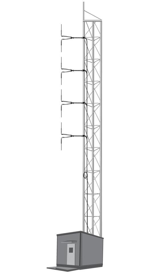 Image of 4 Bays Circular Polarization Tuned Antenna System 3 KW - AKG8