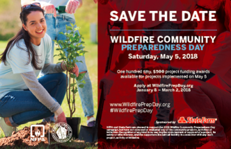 Wildfire Community Preparedness Day, Saturday, May 5, 2018