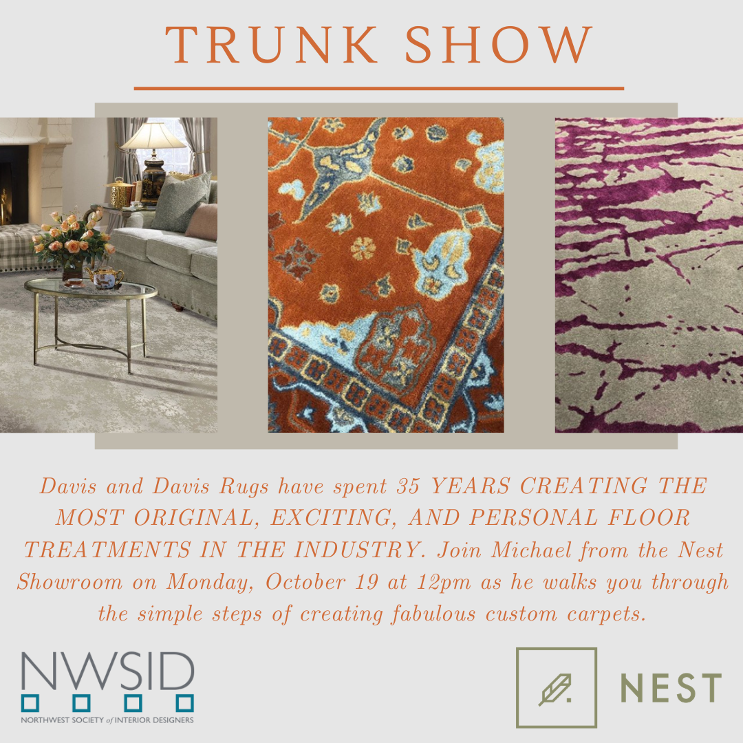 Monday! Virtual Trunk Show with Nest Showroom