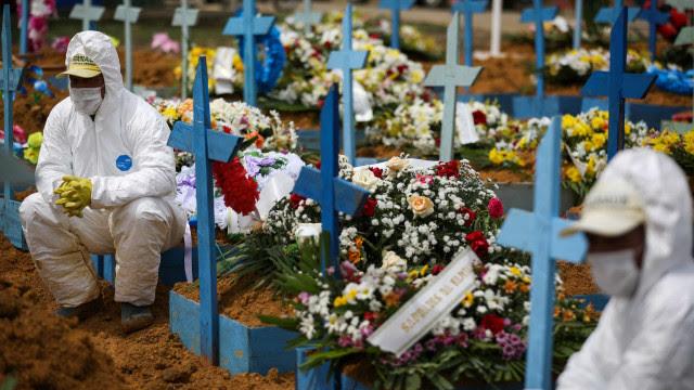 Brasil tem média móvel acima de mil mortes por covid-19 pelo sexto dia seguido