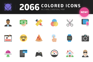 Nucleo - 2066 Colored Icons