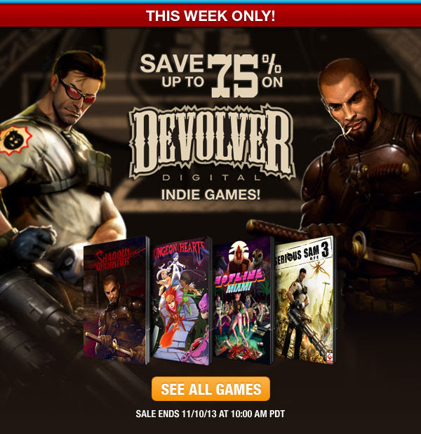 Save up to 75% on Devolver Indie PC Titles!