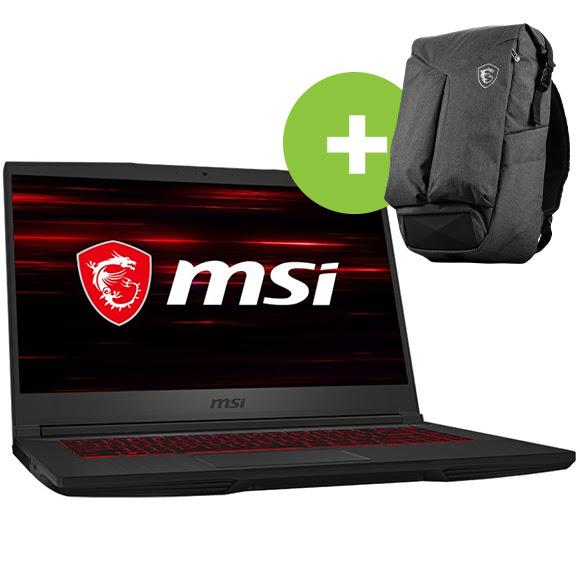Őrült hét - MSI 9S7-16W112-016HU GF65 Thin 9SD gamer notebook, fekete + MSI Air Backpack notebook hátizsák