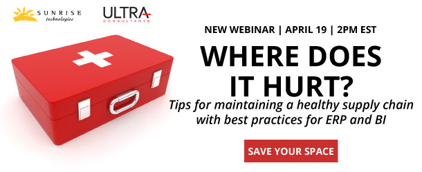 Join Sunrise and Ultra Consultants for a can't miss webinar April 19th.