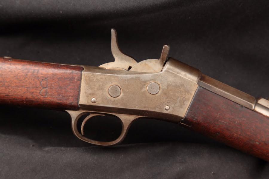 """Remington Argentine Model 1879 Patria Rolling Block, Blue & Case Color 36"""" - Single Shot Rifle & Cleaning Rod, 1879-82 Antique - Picture 4"""