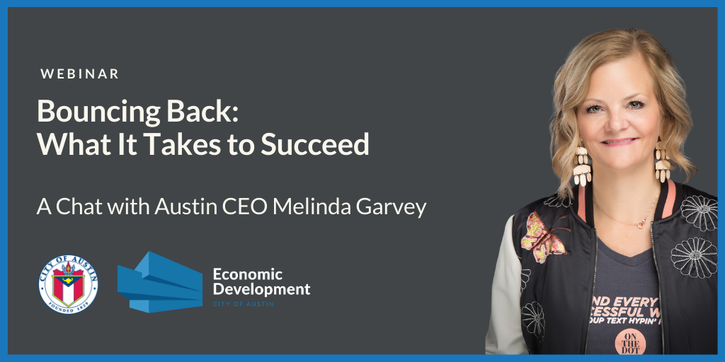 Bouncing Back: What it Takes to Succeed – Melinda Garvey smiling ready to present 5 tips to help shift your mindset.