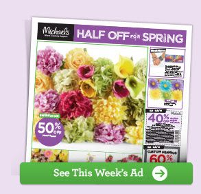 HALF OFF FOR SPRING - See This Week's Ad