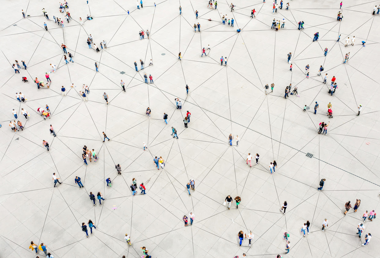 network of people connected by lines