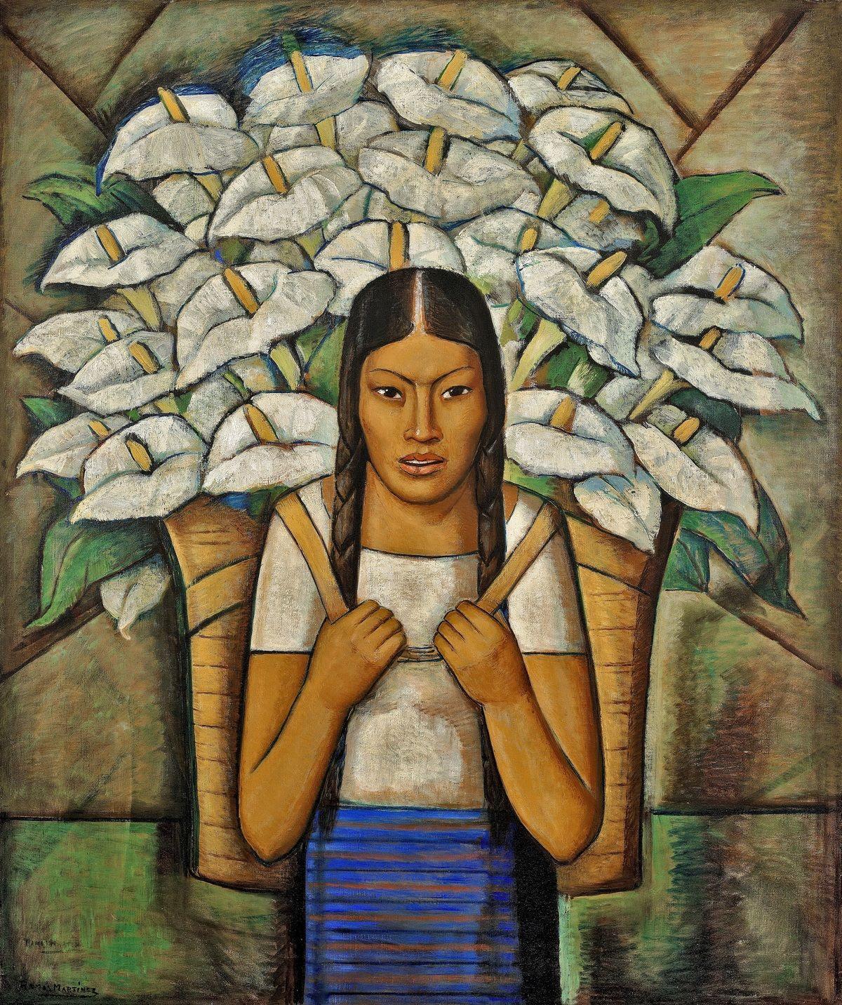 Alfredo Ramos Martínez, Calla Lily Vendor, 1929.