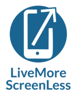 logo for Live More Screen Less