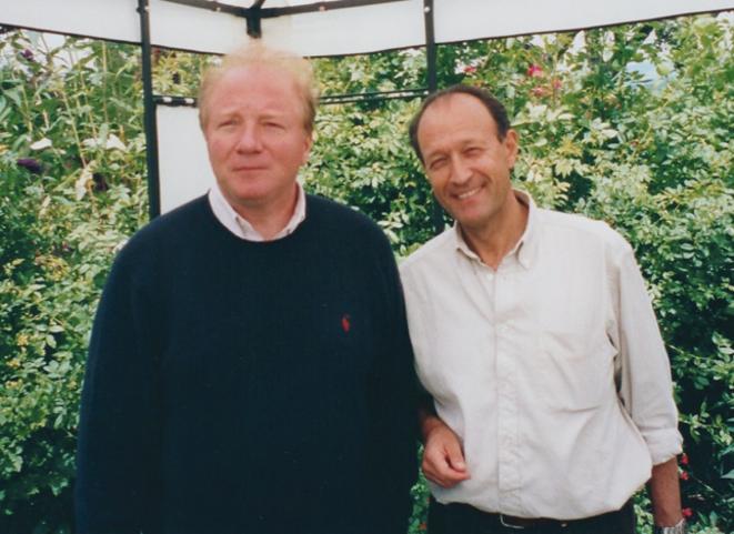 Brice Hortefeux et Thierry Gaubert, à Deauville                   (date indéterminée) © DR