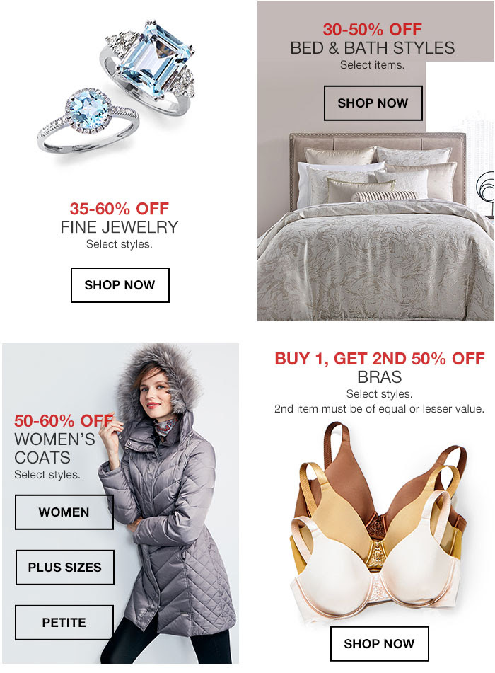 35-60% OFF FINE JEWELRY Select styles. shop now