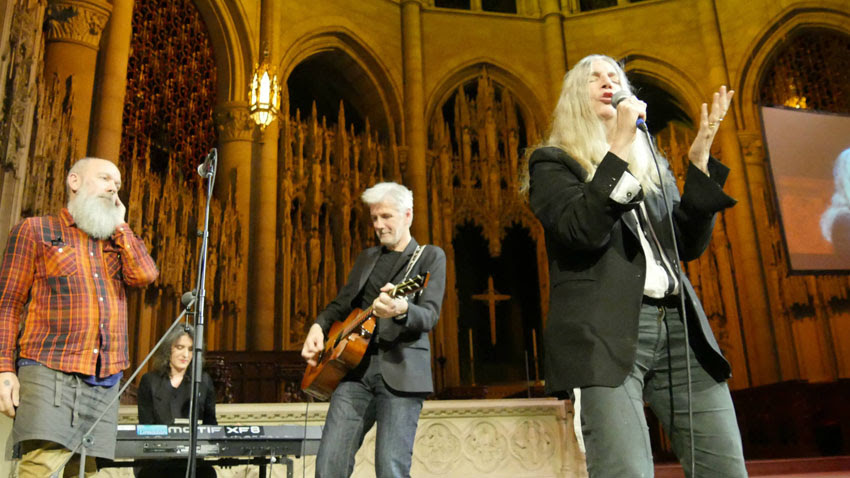 Patti Smith performs at Democracy Now!'s 20th anniversary celebration.