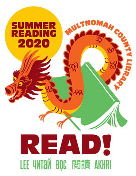 Logo for and link to Summer Reading 2020
