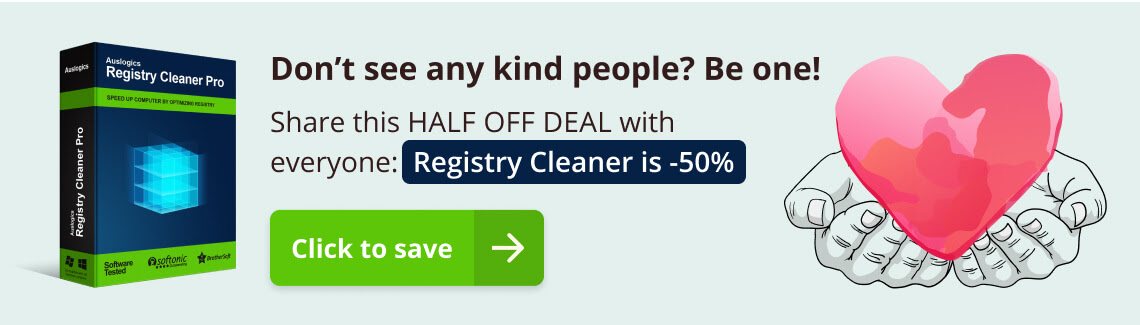 Auslogics Registry Cleaner 50% Off Coupon