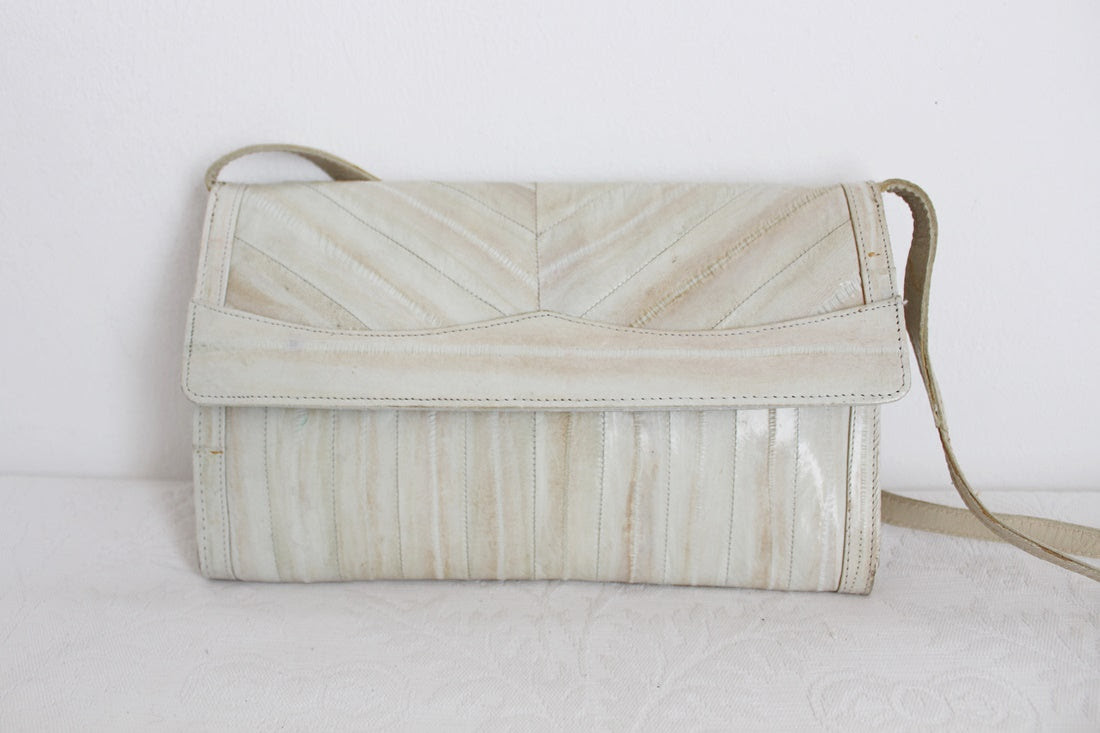 GENUINE EEL SKIN VINTAGE SLING BAG