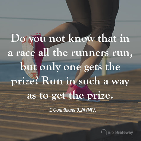 Read 1 Corinthians 9:24 on Bible Gateway.