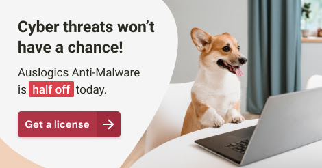 International Dog Day -  Auslogics Anti-Malware Disount Coupon